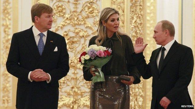 King Willem-Alexander, Queen Maxima and President Vladimir Putin