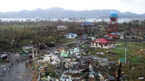 View of devastation in the city of Tacloban - 9 November