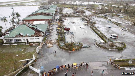 Storm damage in Tacloban. 9 Nov 2013