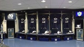 Scotland dressing room