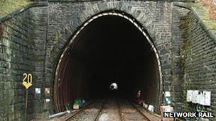 Holme Tunnel between Burnley and Hebden Bridge on the York-Blackpool railway line
