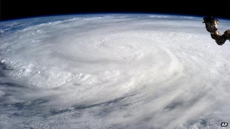 Typhoon seen from the International Space Station. 9 Nov 2013