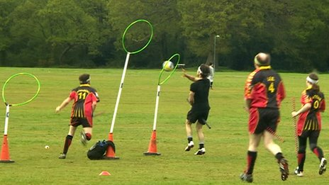 Quidditch game in Oxford