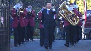 Grenadier Guards march in Melbourne