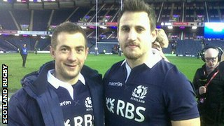 Two of Scotland's try scorers