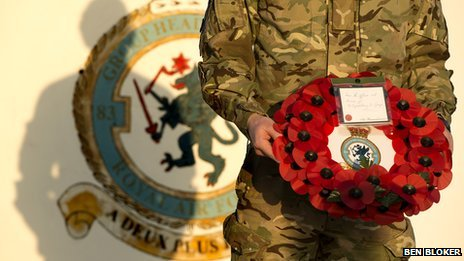83 Expeditionary Air Group's red poppy wreath