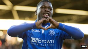 Nigel Hasselbaink was on target for St Johnstone
