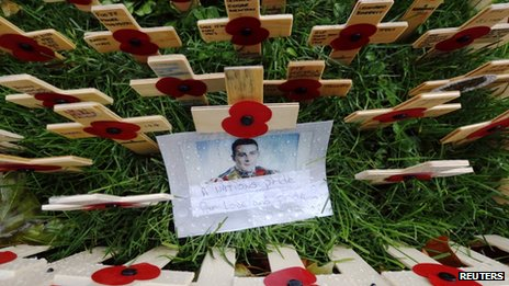 A picture of Fusilier Lee Rigby, who was killed in Woolwich in May