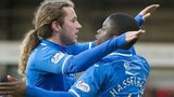 Stevie May and Nigel Hasselbaink