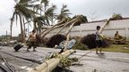 Damage in Tacloban after Typhoon Haiyan