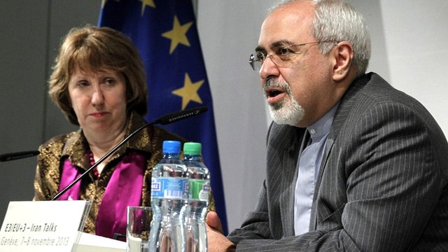 EU foreign policy chief Catherine Ashton and Iranian Foreign Minister Mohammad Javad Zarif