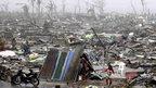 Makeshift shelter in Tacloban. 10 Nov 2013
