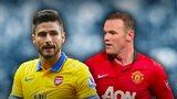 Olivier Giroud, Wayne Rooney