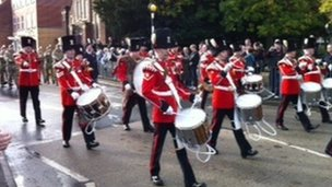Wrexham parade