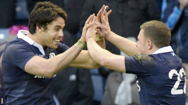 Scotland celebrate against Japan