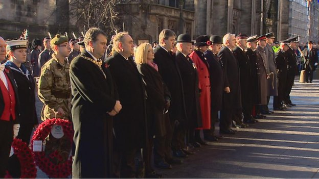 Remembrance service in Edinburgh