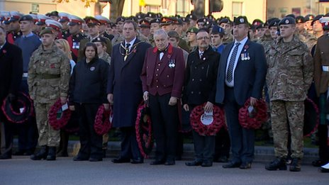 Remembrance service in Glasgow