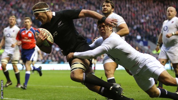 England v New Zealand at Twickenham in December 2012