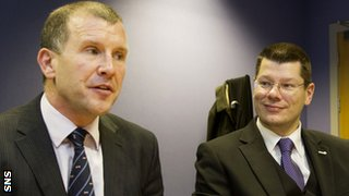 SFA chief executive Stewart Regan and the SPFL's Neil Doncaster