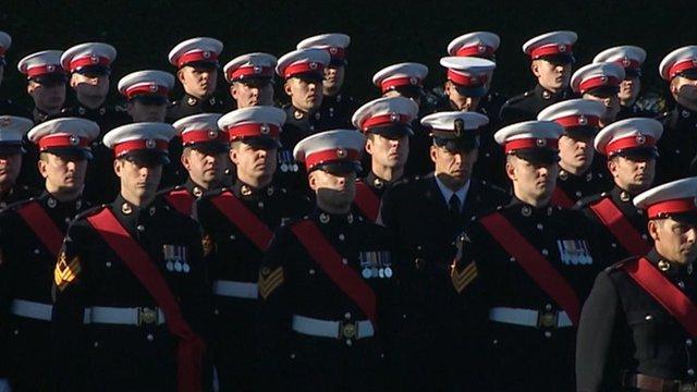 Royal Marines at Lympstone