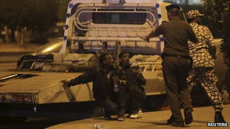 Ethiopians are detained in Riyadh, 9 November 2013