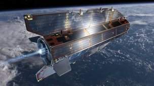 GOCE satellite in space