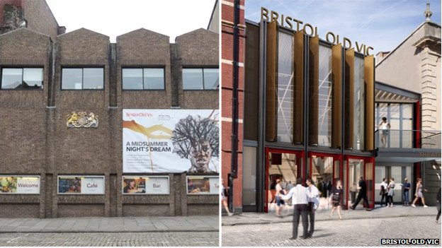 Bristol Old Vic, how it look alongside an artists' impression