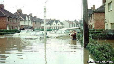 Flooding in Bedminster, Bristol, in 1968