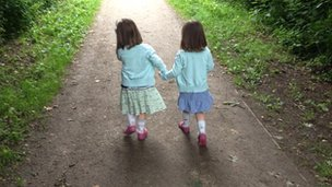 Anna Allatt's daughters on Linear Walk in Bingham