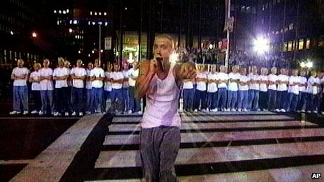 Eminem with lots of lookalikes