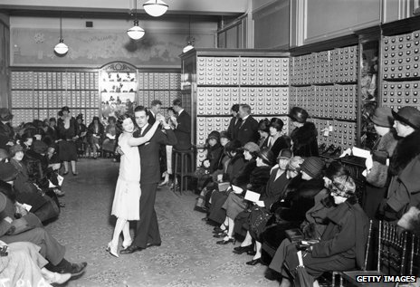 A couple dancing the foxtrot, 1924