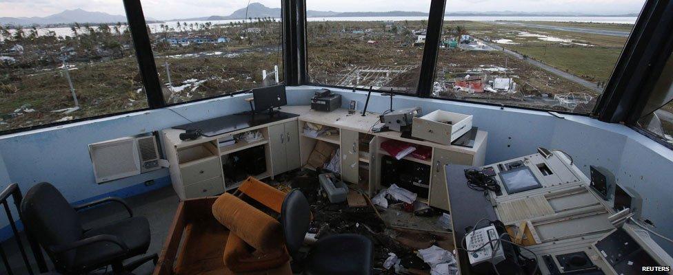 View inside Tacloban airport