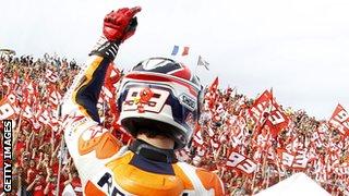 Marc Marquez makes his mark in MotoGP
