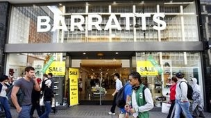 Barratts shoe shop