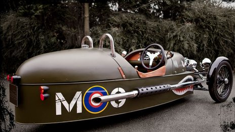 A morgan three-wheeler