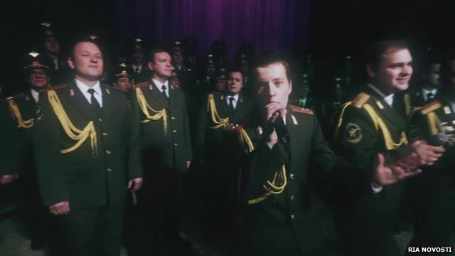 Police choir sing Get Lucky
