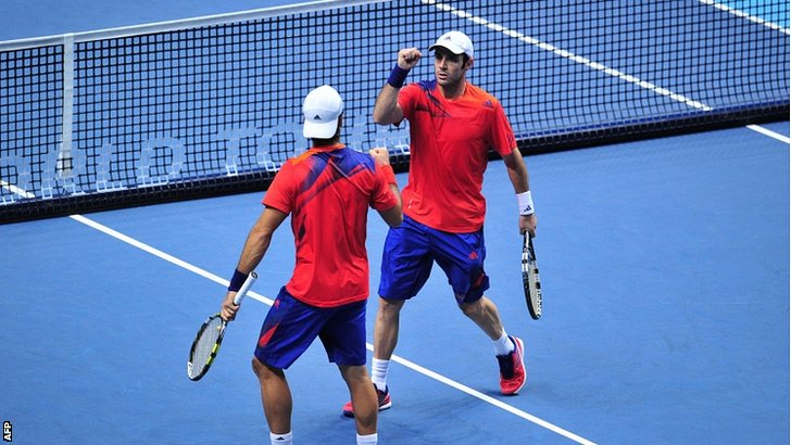 Spain's David Marrero (right) and his partner Fernando Verdasco