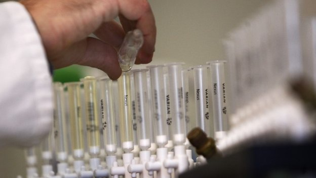 Samples prepared for doping tests
