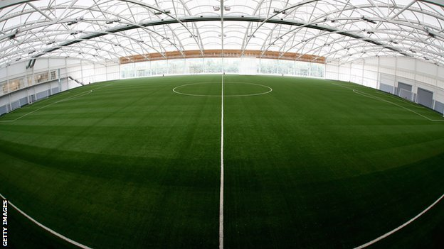 The Sir Alf Ramsey training pitch at St George's Park