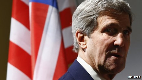 US Secretary of State John Kerry arrives for a news conference after nuclear talks in Geneva 10 November 2013