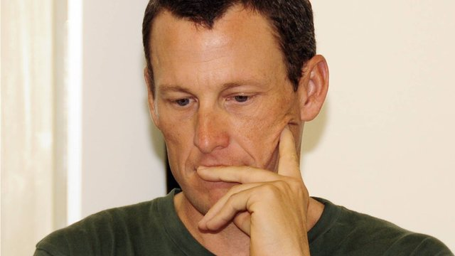 Disgraced former cyclist Lance Armstrong