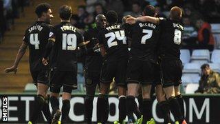 Wigan Athletic celebrate