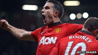 Manchester United striker Robin van Persie.