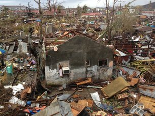 Destruction wrought by Typhoon Haiyan in Tacloban, central Philippines