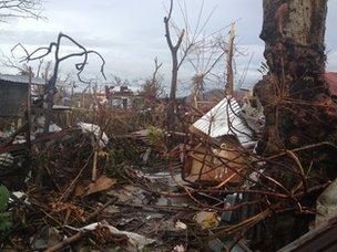 Devastation in Tacloban