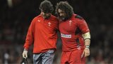 Wales prop Adam Jones limps off against South Africa