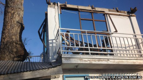 A house in northern Cebu ravaged by Typhoon Haiyan