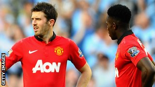 Michael Carrick and Danny Welbeck