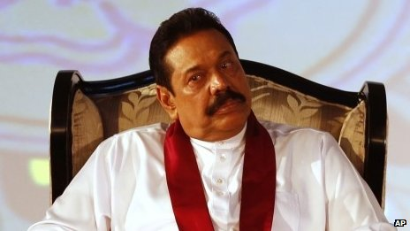 Sri Lankan President Mahinda Rajapaksa attends the inaugural session of the commonwealth business forum in Colombo on 12 November 2013