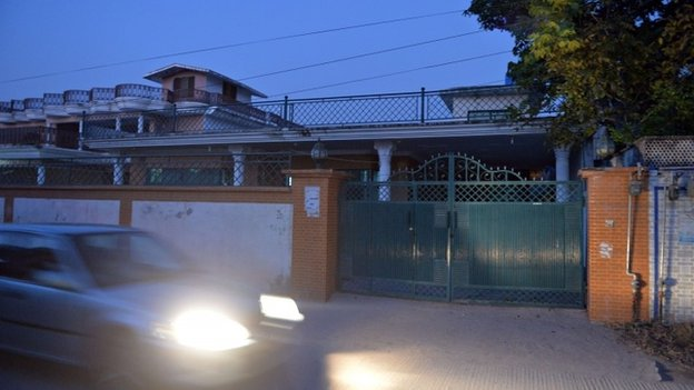 A residence believed to belong to Nasiruddin Haqqani, a senior leader of the feared militant Haqqani network, is pictured in the Bhara Kahu area on the outskirts of Islamabad on November 11, 2013.